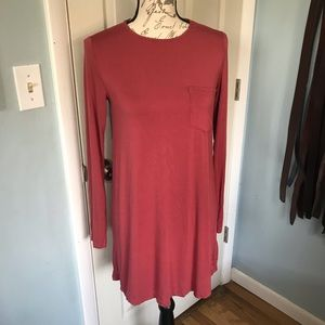 Abercrombie & Fitch burgundy shirt dress